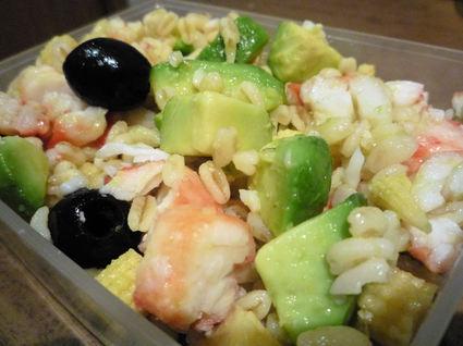Recette de salade fraîcheur au crabe et à l'avocat