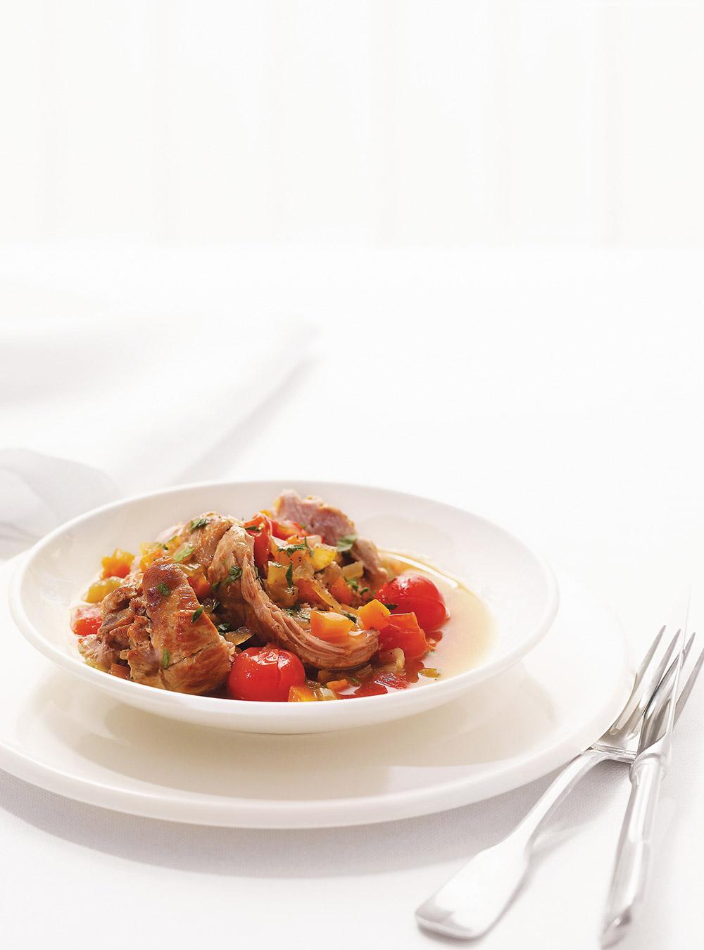 Rôti de veau braisé à la tomate cerise | ricardo