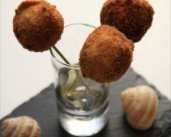 Recette sucettes croquantes d'escargots au coeur de roquefort ...