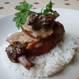 Filet mignon de porc aux morilles pour 4 personnes
