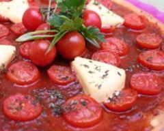 Recette pizza à la vache qui rit et tomates cerise