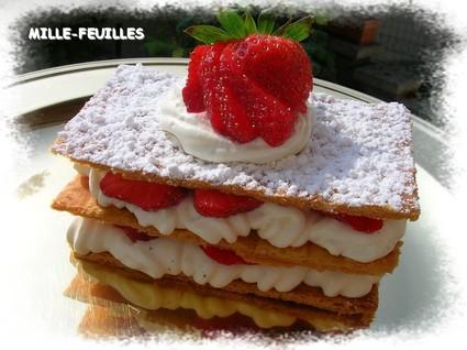 Recette de millefeuille fraises-chantilly