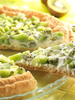 Recette de tarte au kiwi et faisselle