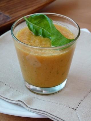Recette de gaspacho de melon et tomate
