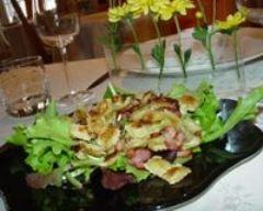 Recette salade aux lardons et ravioles