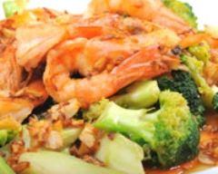 Recette crevettes sautées aux brocolis
