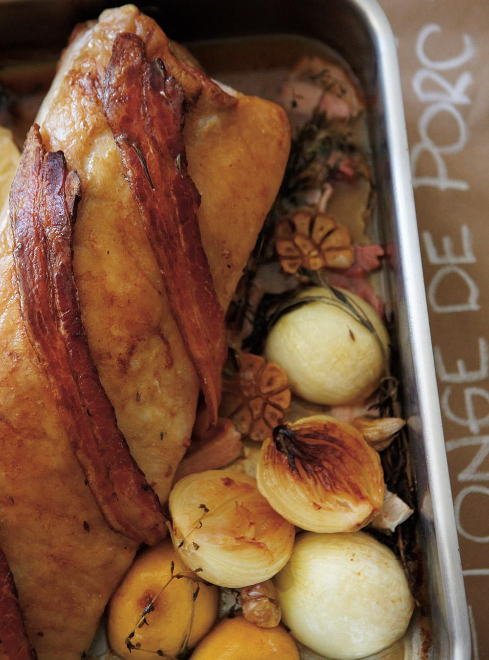 Longe de porc, sauce à l'érable et aux poires | ricardo