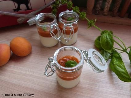 Recette de panna cotta à l'abricot et au basilic