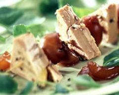 Recette brochettes de foie gras aux raisins