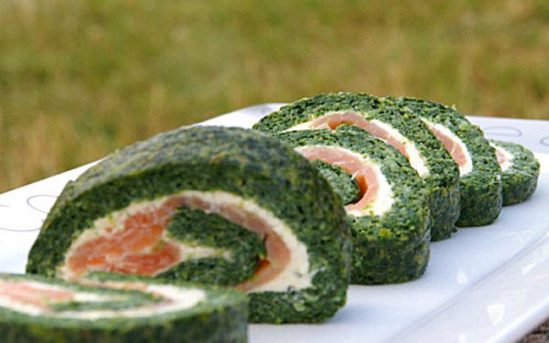 Recette roulé épinards-saumon simple > cuisine étudiant