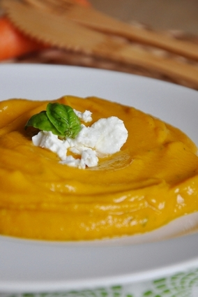 Recette de purée de carottes au basilic