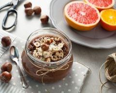 Recette crème au chocolat au sarrasin, noisette et banane