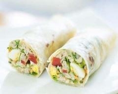 Recette wrap au thon, œuf dur et mayonnaise