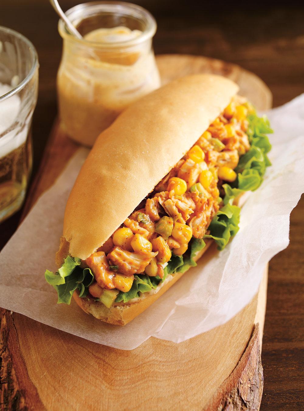 Sandwich au poulet barbecue | ricardo