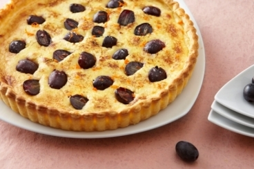 Recette de tarte raisins mascarpone et zestes de clémentines rapide
