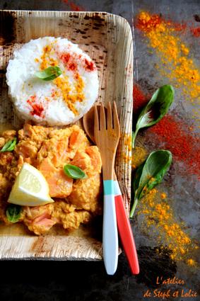 Recette de curry indien de saumon au lait de coco