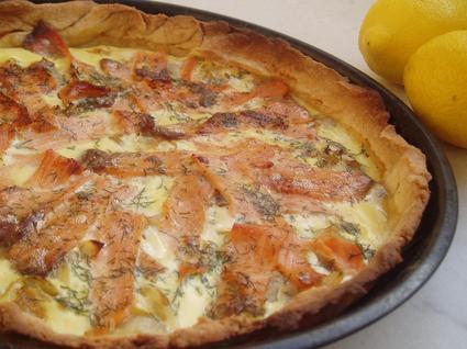 Tarte au saumon et endives