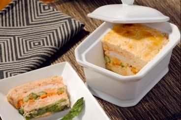 Recette de terrine de langoustines et saumon aux petits légumes ...