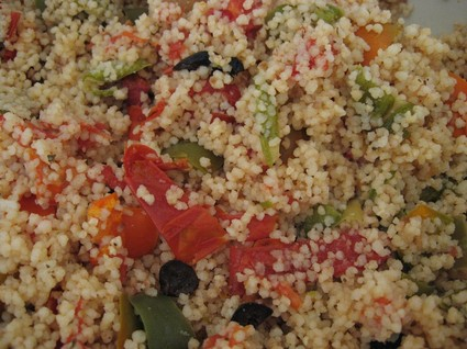 Recette de semoule en salade colorée