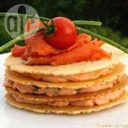 Recette millefeuille de mousse de saumon – toutes les recettes ...
