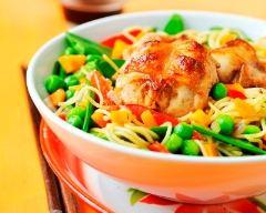 Recette wok de lapin aux petits légumes