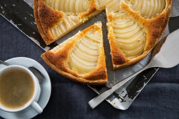 Recette de tarte aux poires-amandine facile et rapide