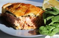 Recette de filet de saumon aux épinards frais, en croûte feuilletée ...