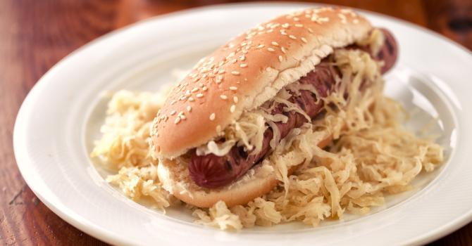 Recette de hot dog à la choucroute