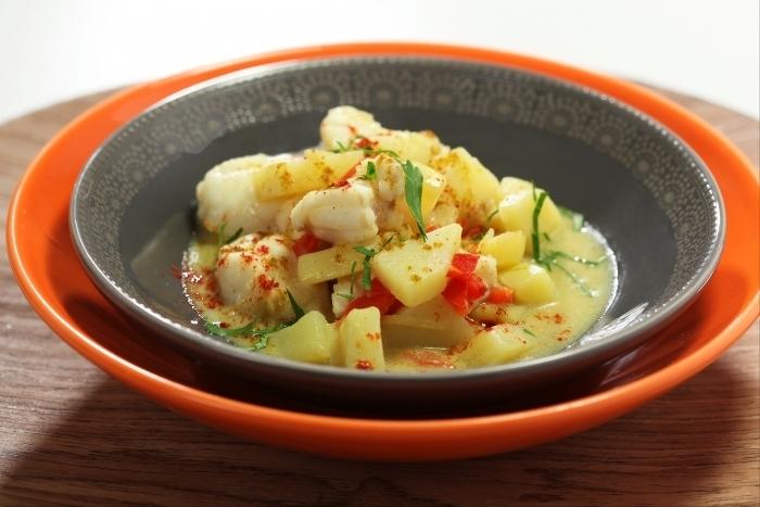 Recette de curry de lotte et pommes de terre à l'orientale facile et ...