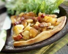 Recette tarte pommes de terre et lardons