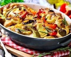 Recette cuisses de poulet et légumes rôtis au four