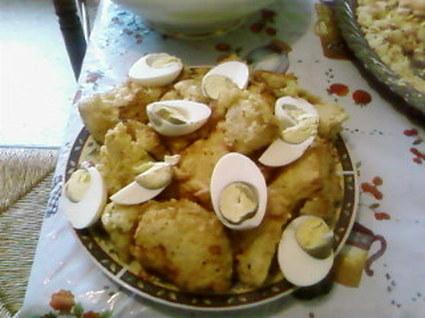 Recette de beignets de chou-fleur et oeufs
