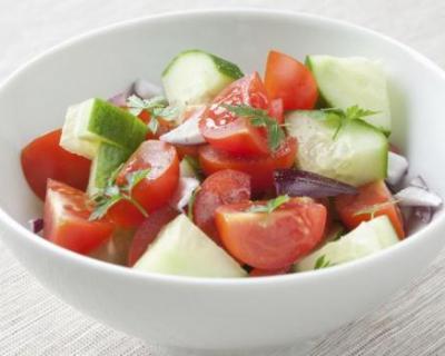 Recette salade de concombres et tomates au citron