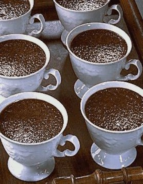 Pots de crème chocolat pour 6 personnes