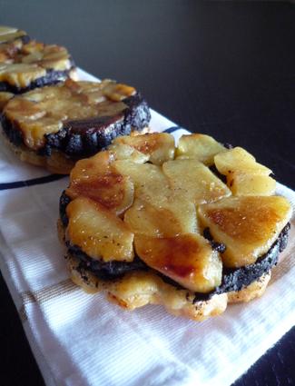 Recette de tatins de boudin noir aux pommes