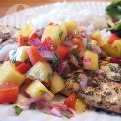 Recette sole marinée et grillée avec salsa de mangue – toutes les ...