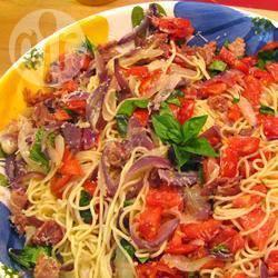 Recette salade estivale de pâtes aux tomates et prosciutto – toutes ...