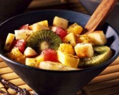 Recette salade de fruits vanillée