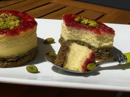 Recette de cheesecake pistache et framboise