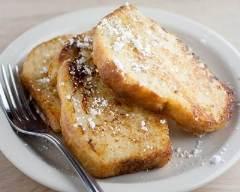Recette pain perdu brioché au sucre vanillé