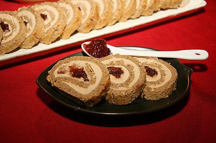 Recette de pain d'épices roulé et foie gras, confiture de figues