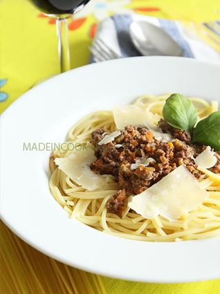 Recette de spaghetti ragu'alla bolognese
