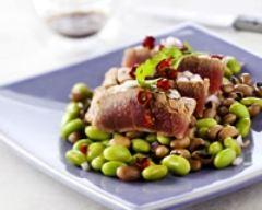 Recette salade d'edamame et thon au piment