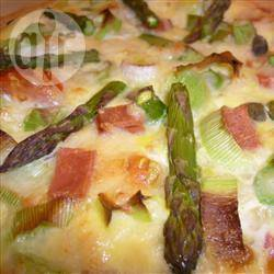 Recette quiche aux asperges vertes et au jambon de parme ...