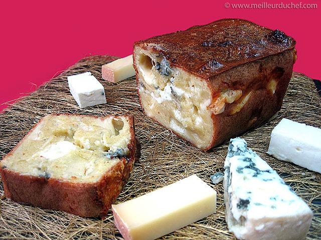 Cake aux fromages  fiche recette avec photos  meilleurduchef.com