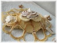 Recette de crêpes dentelles, bananes et crème de marrons