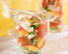 Recette salade de poulet aux nectarines
