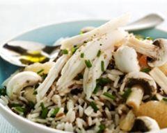 Recette salade tiède de raie au riz sauvage, pamplemousse ...