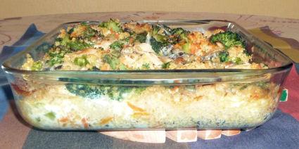 Recette de gratin de boulghour brocolis, carottes
