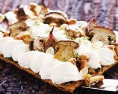Recette tarte aux champignons et mozzarella